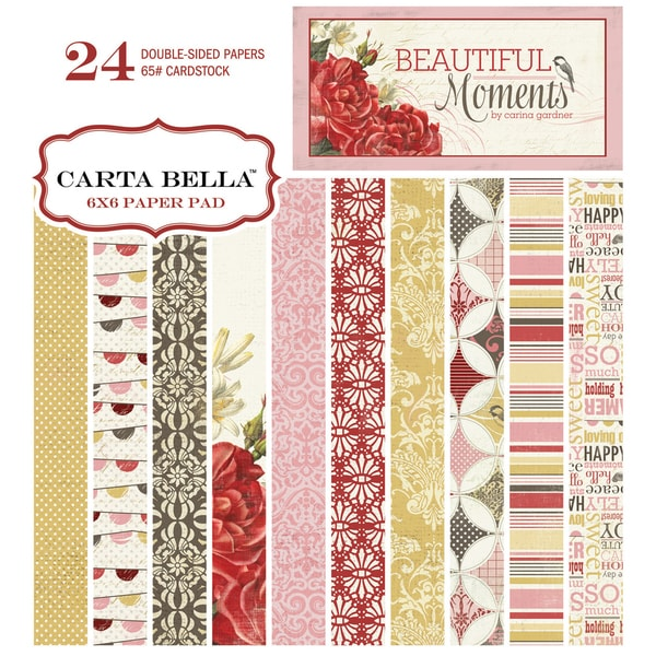 "Beautiful Moments Double-Sided Cardstock Pad 6""X6"" 24/Sheets-"