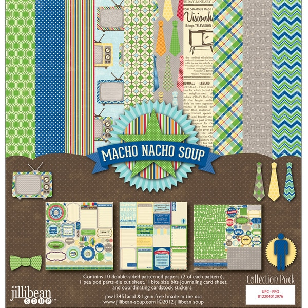 "Macho Nacho Collection Pack 12""X12""-"