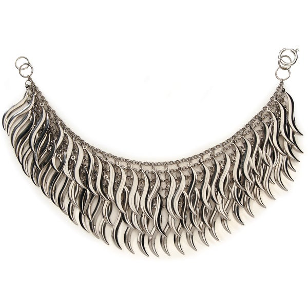 Styled by Tori Spelling (TM) S Drops Necklace Bottom-Silver 1/Pkg