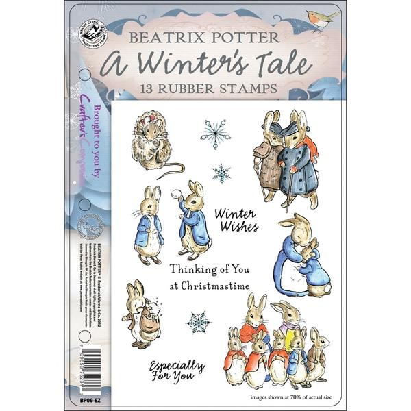 "Beatrix Potter EZMount Stamp Set - 5.5""X8.5""-A Winter's Tale"