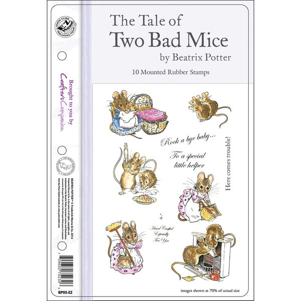 """Beatrix Potter EZMount Stamp Set - 5.5""""X8.5""""-The Tale Of Two Bad Mice"""
