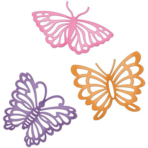 "CottageCutz Die 4""X6""-Filigree Butterfly Trio Made Easy"