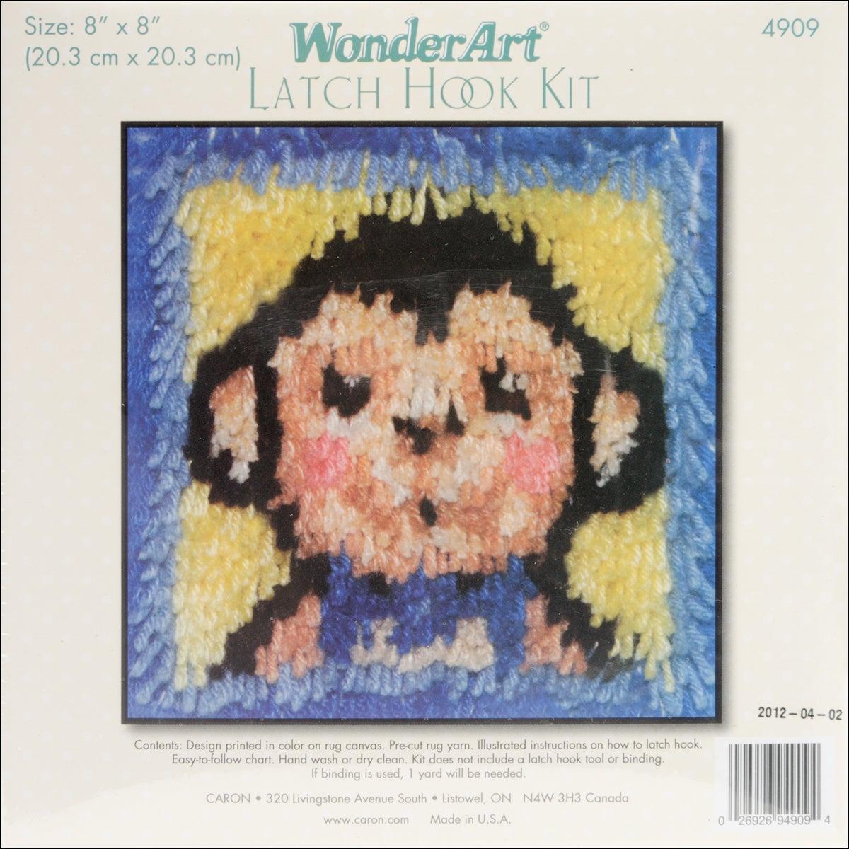 Wonderart Latch Hook Kit 8 X8 Monkey