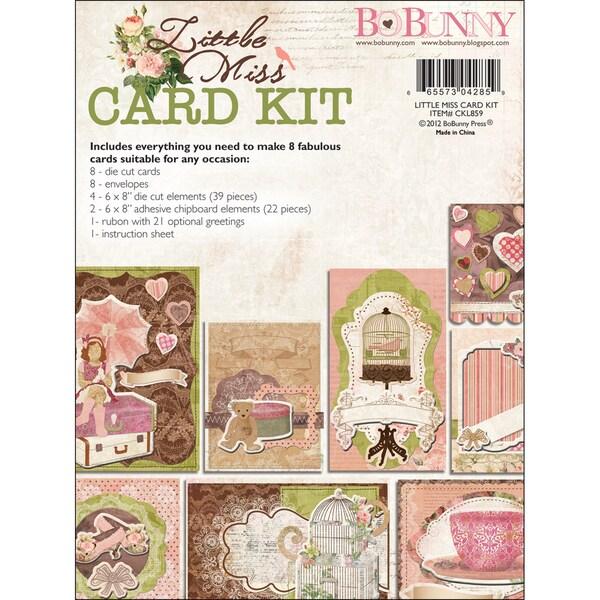 """Little Miss Card Kit 6""""X12"""" Pad-"""