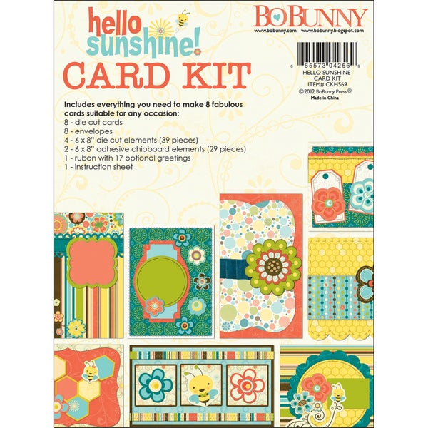 "Hello Sunshine Card Kit 6""X12"" Pad-"