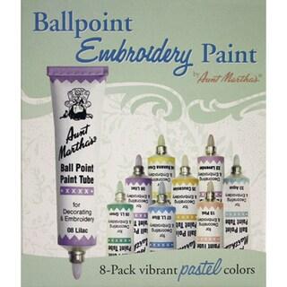 Aunt Martha's Ballpoint Paint Tubes 1 Ounce 8/Pkg-Pastel Colors