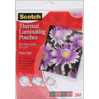"Scotch 3M Thermal Laminator Pouches 20/Pkg-8.5""X11.4"""