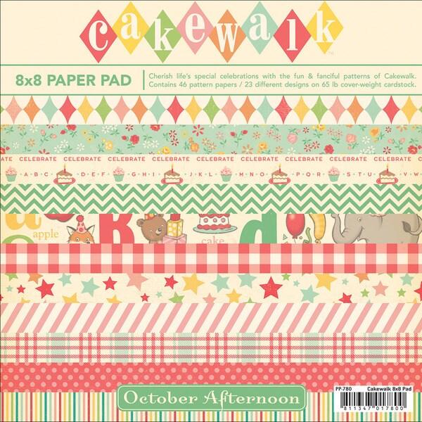 "Cakewalk Paper Pad 8""X8"" 46 Sheets-23 Designs/2 Each"