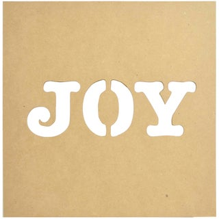 """Beyond The Page MDF Silhouette Wall Art 12""""X12"""" Frame-Joy To The World"""