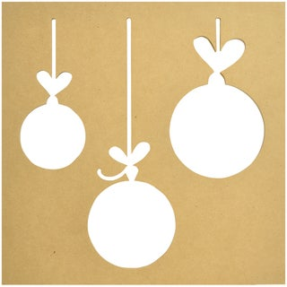 """Beyond The Page MDF Silhouette Wall Art 12""""X12"""" Frame-Baubles"""
