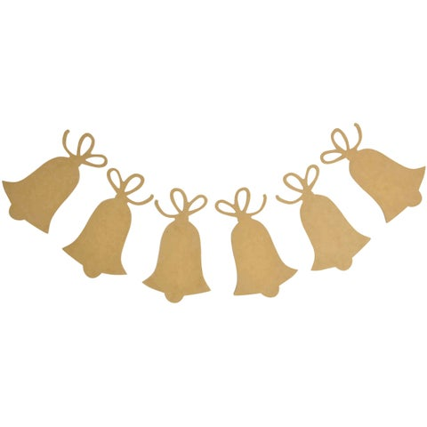 """Beyond The Page MDF Bells Pennant-3.5""""X6""""X.5"""" Bells 5/Pkg"""