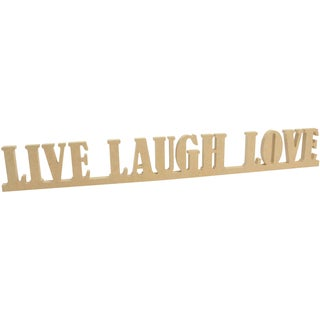 """Beyond The Page MDF Live, Laugh, Love Standing Words-25X3""""X.5"""