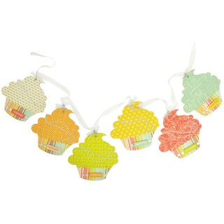 "Beyond The Page MDF Cupcake Pennant-5""X5"" Pieces 6/Pkg"