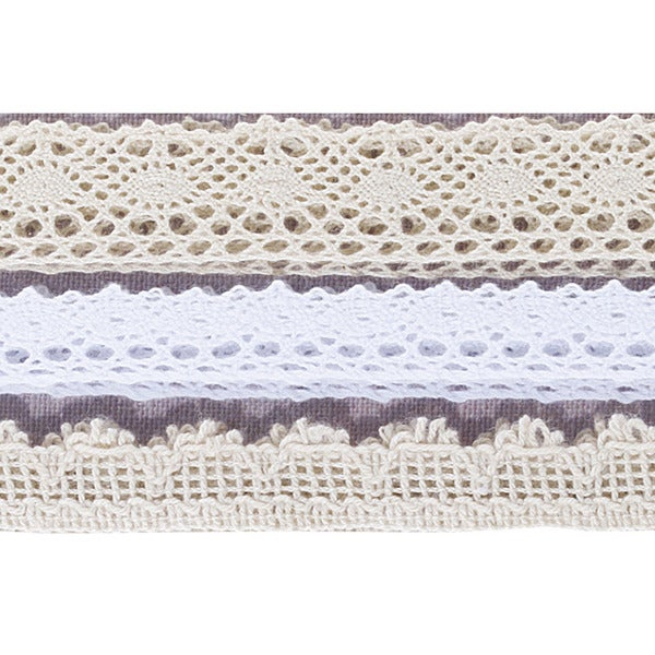 """French General Adhesive Borders 12.25"""" 9/Pkg-Lace: 3 Styles-Fabric"""
