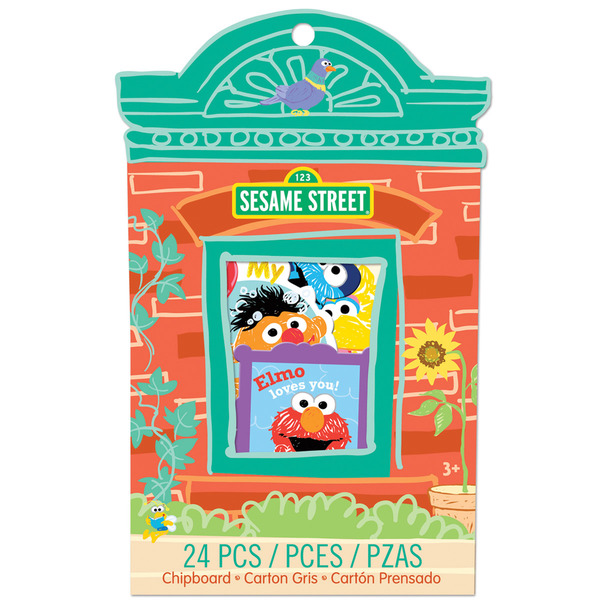 Sesame Street Chipboard 24 Pieces-Crafting - Blocks
