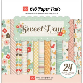 """Sweet Day Double-Sided Cardstock Pad 6""""X6"""" 24 Sheets-"""