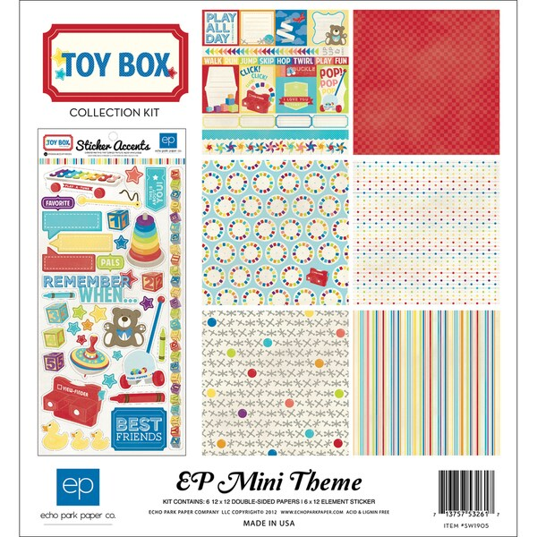 """Toy Box Collection Kit 12""""X12""""-"""