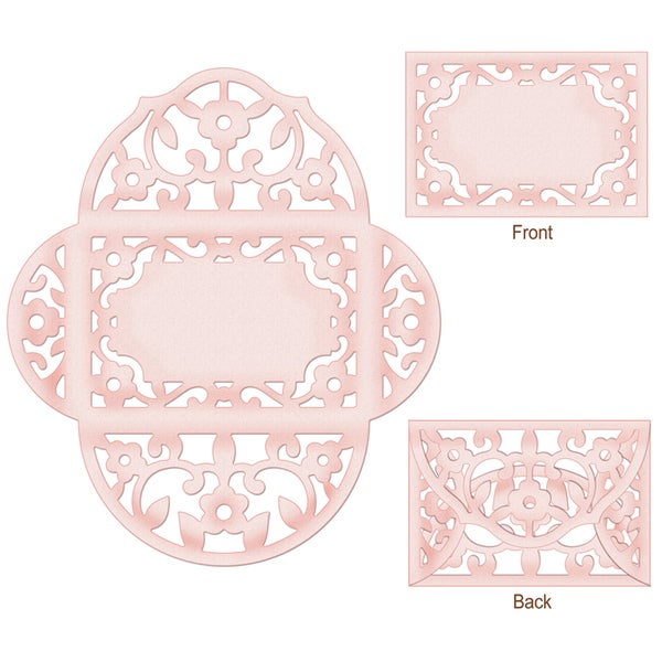 "CottageCutz Die 3.7""X2.5"" (Folded)-Lace Envelope Made Easy"