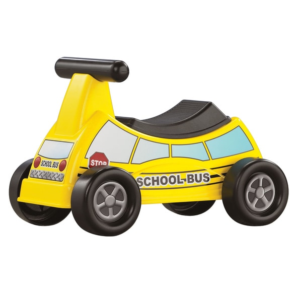 School Bus Ride-On Sit and Scoot Child Toy