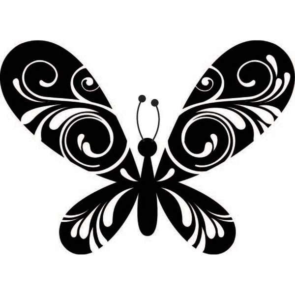 "Mounted Rubber Stamp 2.5""X2""-Brilliant Butterfly"