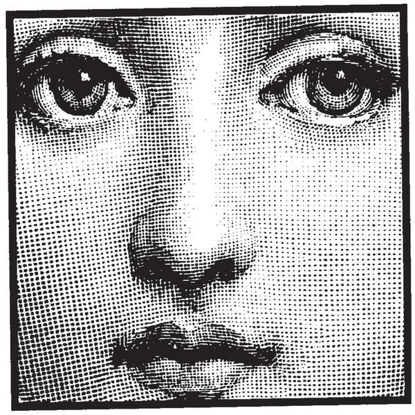 """Mounted Rubber Stamp 1.5""""X1.5""""-Face In Square"""