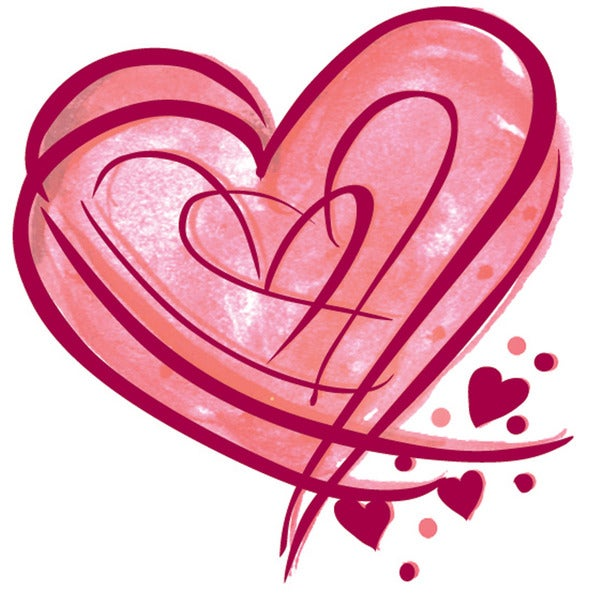 """Mounted Rubber Stamp 1.5""""X1.5""""-Heart Whisper"""