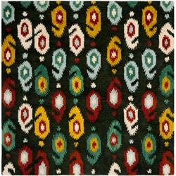Safavieh Handmade Ikat Charcoal Grey Wool Rug (6' Square)