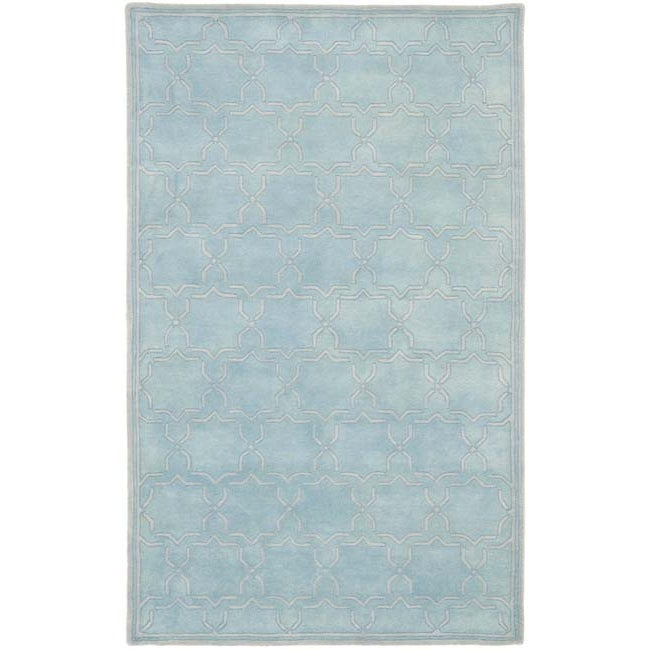 Safavieh Handmade Moroccan Chatham Bluish-Grey Wool Rug (4' x 6')