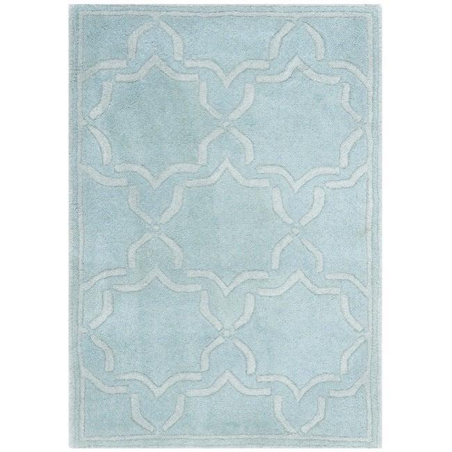 Safavieh Handmade Moroccan Chatham Bluish-Grey Wool Rug (2' x 3')