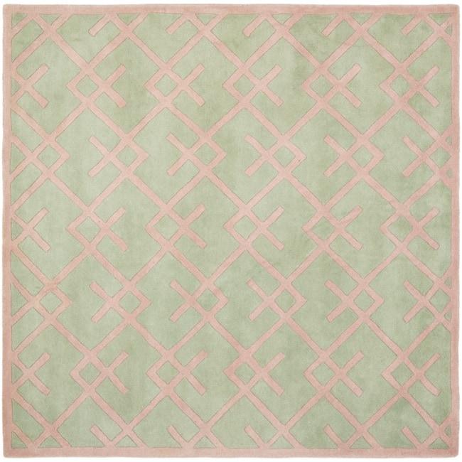 Safavieh Handmade Moroccan Chatham Green Wool Rug (7' Square)