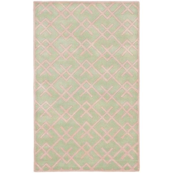 Safavieh Handmade Moroccan Chatham Green Wool Rug (6' x 9')