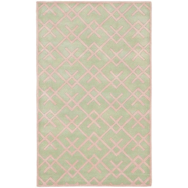 Safavieh Handmade Moroccan Chatham Green Wool Rug (4' x 6')