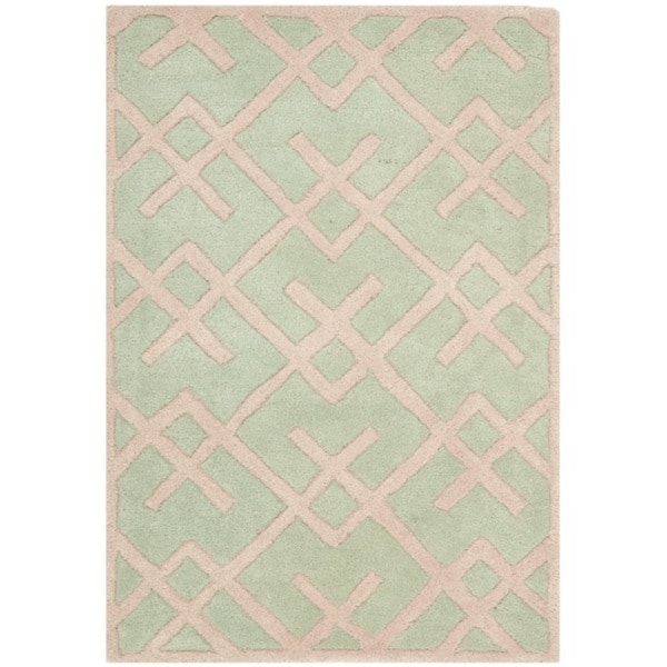 Safavieh Handmade Moroccan Green Wool Area Rug (3' x 5')