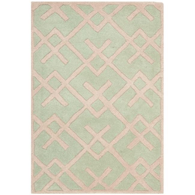 Safavieh Handmade Moroccan Chatham Green Wool Rug (2' x 3')