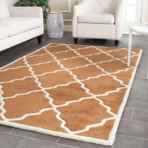 Safavieh Handmade Moroccan Chatham Brown Wool Rug - 6' x 9'