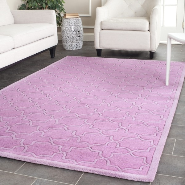 Safavieh Handmade Moroccan Chatham Pink Wool Rug - 7' x 7' Square