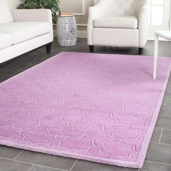 Safavieh Handmade Moroccan Chatham Pink Wool Rug (6' x 9')