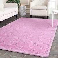 Safavieh Handmade Moroccan Chatham Pink Wool Rug - 4' x 6'