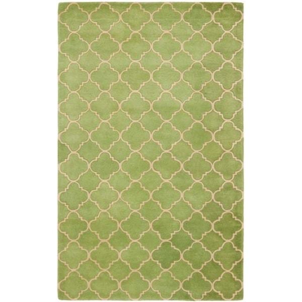 Safavieh Handmade Moroccan Chatham Green Wool Rug (5' x 8')