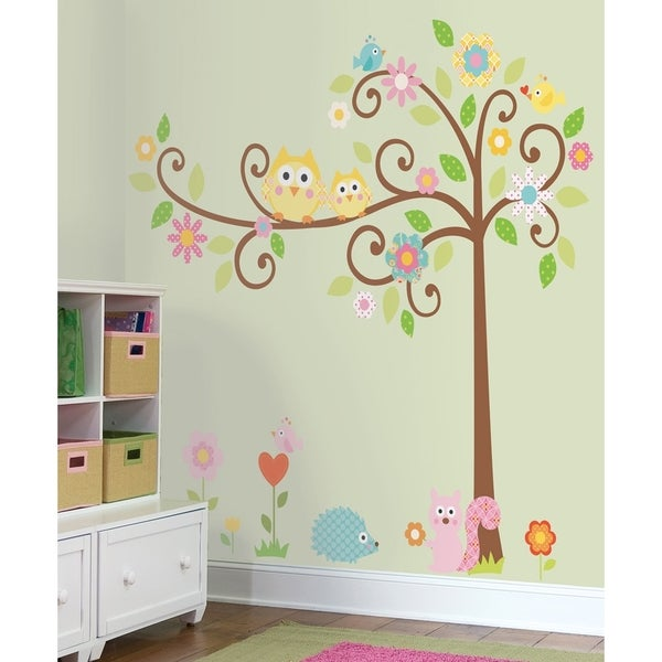 Roommates Scroll Tree Peel and Stick MegaPack Wall Decal