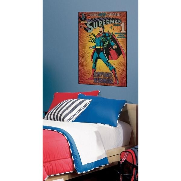 RoomMates Comic Book Cover Superman Kryptonite Peel & Stick Wall Decal