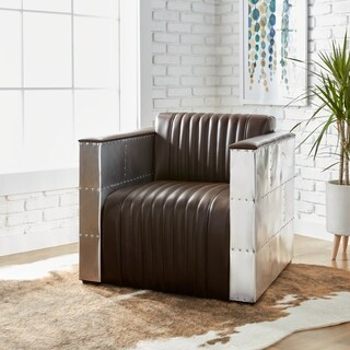 'Vindicator' Modern Dark Brown Leather Chair