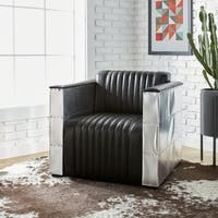 Oliver & James Vindicator Modern Black Leather Chair