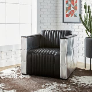 Leather Chairs Living Room Accent chairs leather living room chairs for less overstock oliver james vindicator modern black leather chair sisterspd