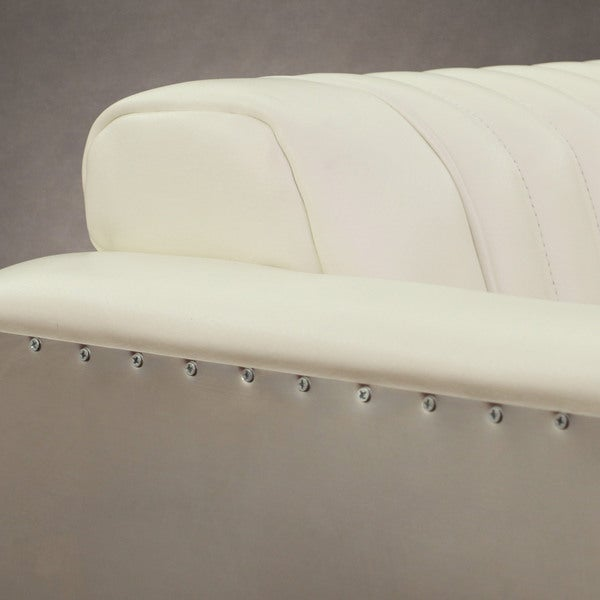 Modern White Chair vindicator' modern white leather chair - free shipping today