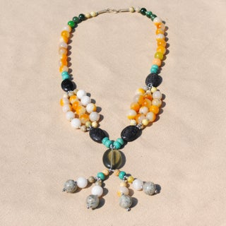 Handmade Tribal Multi-color Beaded Necklace (Afghanistan)