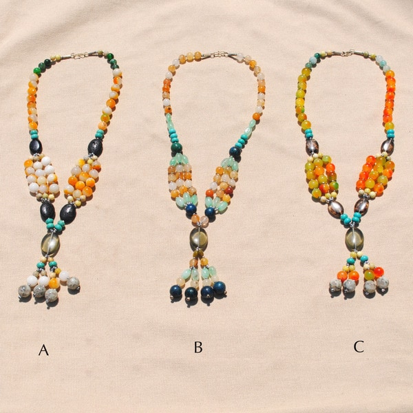 Handcrafted Tribal Multi-color Beaded Necklace (Afghanistan)