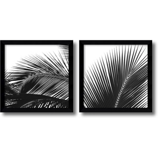 Jamie Kingham 'Palm Details' Framed Art Print Set 13 x 13-inch (Each)