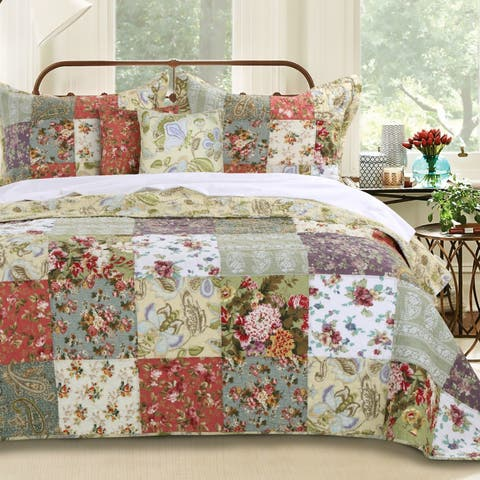 Greenland Home Fashions Blooming Prairie Deluxe 5-piece Bedspread Set