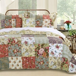Greenland Home Fashions Blooming Prairie Deluxe Multicolored 5-piece Quilted Bedspread Set|https://ak1.ostkcdn.com/images/products/7154022/P14645638.jpg?_ostk_perf_=percv&impolicy=medium